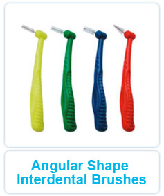 Angular Shape Interdental Brushes