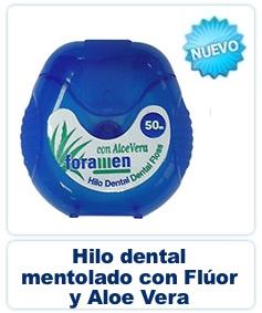 Hilo Dental Mentolado con Flúor y Aloe Vera