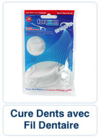 Cure Dents avec Fil Dentaire